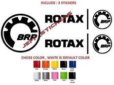 (#21) 2 X ROTAX AND 1 BRP STICKER DECAL EMBLEM