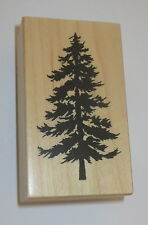 Evergreen Tree Rubber Stamp PSX D-1163 Forest Woods USA Made