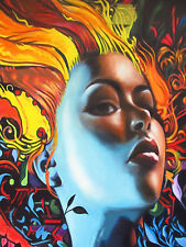 Graffiti Street Art  Print urban princess  80cm canvas