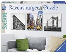 Puzzle 3x500 Pezzi - New York City Impressioni (quadrato, Trittico) di Ra