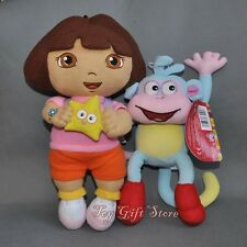 2pcs Dora the Explorer Plush Doll Stuffed Toy Dora with Star & BOOTS 10-12""