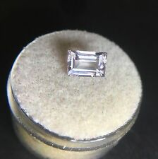 Natural in Morganite 1.51ct pesco rosa Beryl Baguette Taglio Gemma RARA Loose