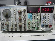 TEKTRONIX TM504 WITH DM502A OPT 2 AUTORANGING DMM FG504 40MHZ FUNCTION GENERATOR