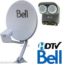 "TWIN 20"" DISH 500 BELL EXPRESS VU HD SATELLITE DPP LNB+SWITCH NETWORK SW21 SW44"