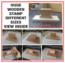 Huge Wooden Rubber Stamp NO Self Inking Logo Wedding Office Service Business Car