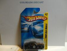 2008 Hot Wheels #27 Flat Black Ford Mustang Fastback w/OH5 Spoke Wheels