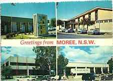 GREETINGS FROM MOREE NSW AUSTRALIA OLD POSTCARD
