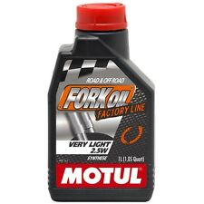FLACONE 1 LITRO OLIO MOTUL FORK OIL FACTORY LINE VERY LIGHT 2.5W