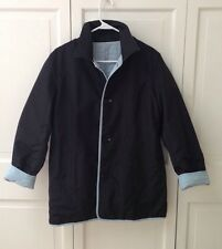 Ladies Utex Design Light Blue/Black reversible Quilted Coat Jacket Size M