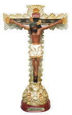 9 Inch Resin Crucifix Lord of the Miracles Statue Jesus on Cross Sculpture