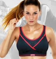BRAND NEW - Shock Absorber - Black & Red - Gym Sports Bra - S002Z Level 4 Impact