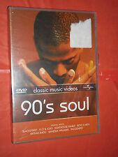 DVD MUSICALE DA COLLEZIONE- 90 S SOUL-classic music videos - SIGILLATO RARO