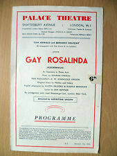 1946 Palace Theatre: GAY ROSALINDA (Fledermaus) by Johann Strauss.