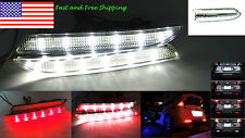 FOR Honda Insight 24 LED Clear Bumper Reflector Backup Tail Stop Brake Light TSX