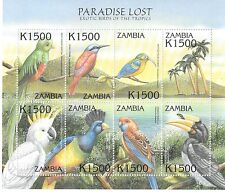 Zambia - Exotic Birds of The Tropicals, 2000 - Sc 887 Sheetlet