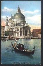 CPA Italia Venice Venezia Basilica della Salute Gondolier i39