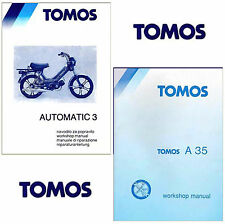 TOMOS Moped A35 & A3 Targa SERVICE MANUAL Maintenance Parts Catalog -5- MANUALS