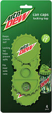 MOUNTAIN DEW CAN FLIP TOP 4 PACK -SODA POP BEER LID BEE/INSECT PROOF by Jokari