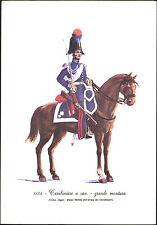 STAMPA UNIFORMI STORICHE - CARABINIERE A CAV. - GRANDE MONTURA - 1834 DEGAI