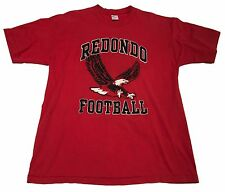 VTG 70s 80s (XL) Redondo Football Eagles Red Shirt Beach California High School