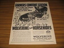 1947 Print Ad Wolverine Shell Horsehide Boots for Farmers Rockford,MI