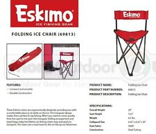 69813 Red Eskimo Gear Folding Ice Fishing Ice Man Chair 250lb Capacity