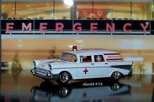 1957 57 CHEVY AMBULANCE 1/64 SCALE DIECAST COLLECTIBLE MODEL DIORAMA OR DISPLAY