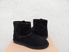 UGG BLACK SUEDE CLASSIC UNLINED MINI PERF BOOTS, WOMENS US 8/ EUR 39 ~ NEW