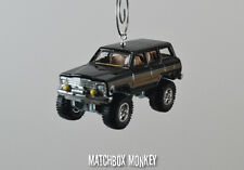 1988 Custom Jeep Wagoneer Christmas Ornament 1/64 Scale Adorno Vintage Style