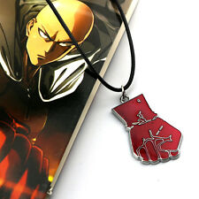 Anime One Punch Man Saitama Fist Punch Pendant Charm Chain Necklace Cosplay