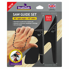 Saw Guide Set by Studhawk 90 & 45 degree Better than a mitre cutting box