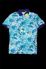 Brand New  Blue Etro Short Sleeve Polo T-Shirt Size-M