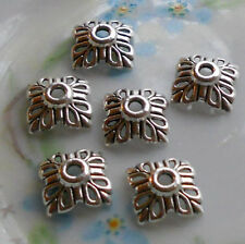 #774 Vintage Filigree Bead Caps 10mm Antique Silver Artsy Art Nouveau Cone Deco