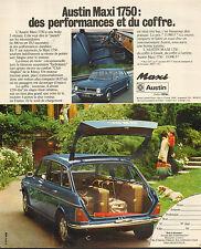 Publicité Advertising 1973  AUSTIN MAXI 1750