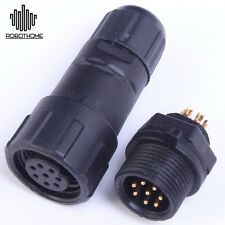 8-Pin Stable Waterproof Panel Cable Connector Multipole Plug Socket IP68 500V 5A