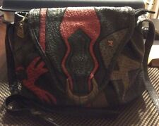 VINTAGE NAS CROSSBODY BAG/PURSE PATCHWORK DESIGN WITH SNAP CLOSURE