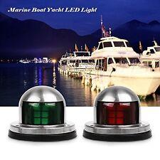 Marine Boat Yacht Pontoon Red Green Light 12V Steel LED Bow Navigation Lights