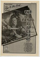 WISHBONE ASH Raw To The Bone Tour 1985 UK Poster size Press ADVERT 16x12""