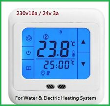Touch Screen Underfloor Heating Thermostat Room temperature control 230v / 24v w