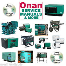 Onan RV GENERATOR NH Parts Catalogs & SERVICE Manual -30- MANUALS Collection CD