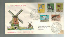 1961 Hague Holland Netherlands First DAy cover Full set # B363-B367