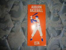 1974 AUBURN TIGERS BASEBALL MEDIA GUIDE Yearbook Press Book Program College AD