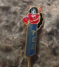 1976 Rare Classic Pez Club of Croatia Hobby Horse Cartoon Pony Bridle Pin Badge