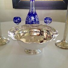 Vintage Sterling Silver Large Center Piece Fruit Bowl C1940s