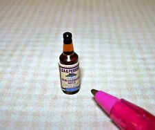 Miniature Brand Worcestershire Sauce Bottle, Blue and Tan: DOLLHOUSE 1/12 Scale
