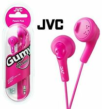 JVC GUMY In-Ear Audio Headphones for iPod, iPhone, MP3 and Smartphone - Pink.