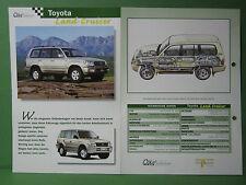 Toyota Land Cruiser - Datenblatt Car-Collection vom delPrado Verlag