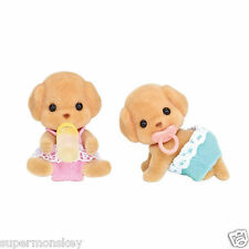 SYLVANIAN FAMILIES I-114 POODLE TWINS BABY DOLL EP21980