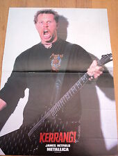 METALLICA James growls Centerfold magazine POSTER  17x11 inches