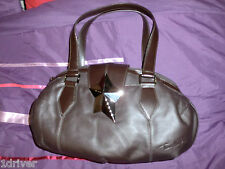 Womens Thierry Mugler Chocolate Brown Leather Handbag Authentic New BNWOT